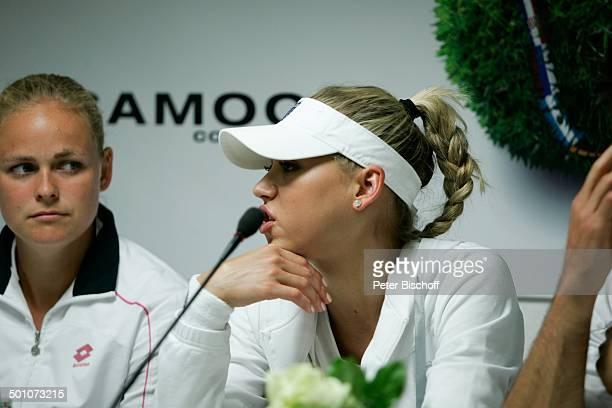 Anna Kournikova MixedGegnerin AnnaLena Grönefeld TennisTurnier 17 Gerry Weber Open PK nach verlorenem AuftaktMixed AKournikova/N i c o l a s K i e f...