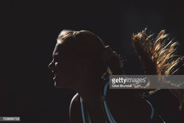 Anna Kournikova of Russia during her Women's Singles Fourth Round match against Mary Pierce at the Australian Open tennis tournament on 23...