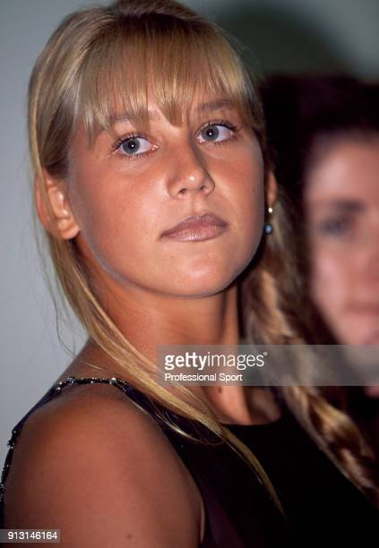 Anna Kournikova of Russia poses at an event during Lipton International Players Championships at the Tennis Center at Crandon Park in Key Biscayne...