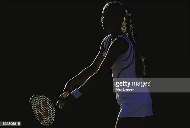 Anna Kournikova of Russia serves against Ines Gorrochategui during their Women's Singles third round match of the Wimbledon Lawn Tennis Championship...