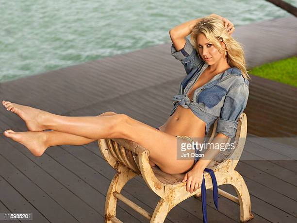Anna Kournikova photographed for Maxim Magazine on September 1 2010 in Los Angeles California Published image
