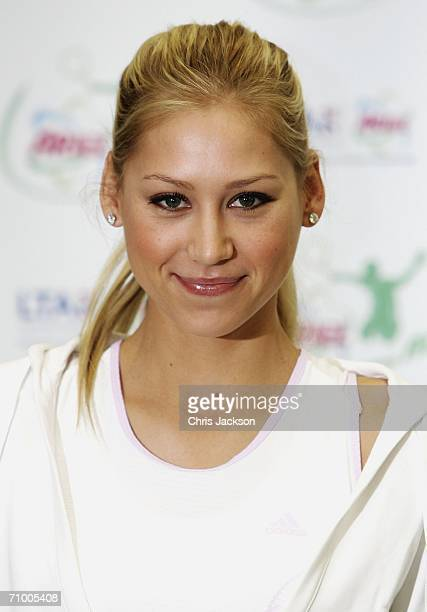 Anna Kournikova poses for a photograph at the Ariel Tennis ACE Finals Day on May 22 2006 in London England Anna Kournikova has teamed up with Tim...
