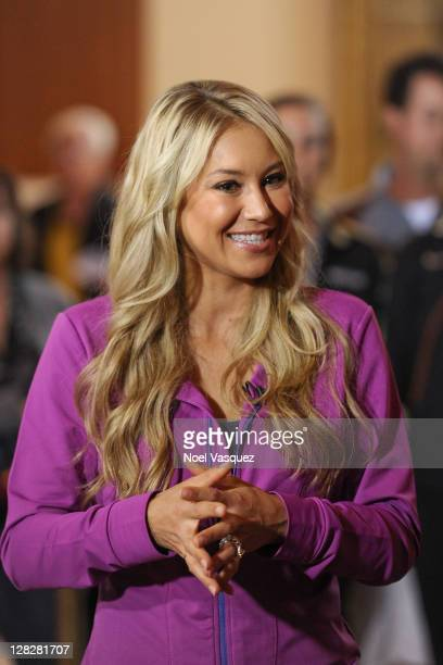 Anna Kournikova visits Extra at The Grove on October 5 2011 in Los Angeles California