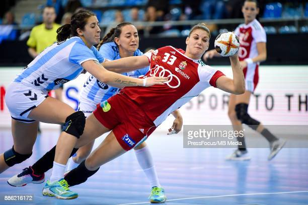 Anna Kovacs of Hungary in action during the IHF Women's Handball World Championship group B match between Hungary and Argentina on December 05 2017...