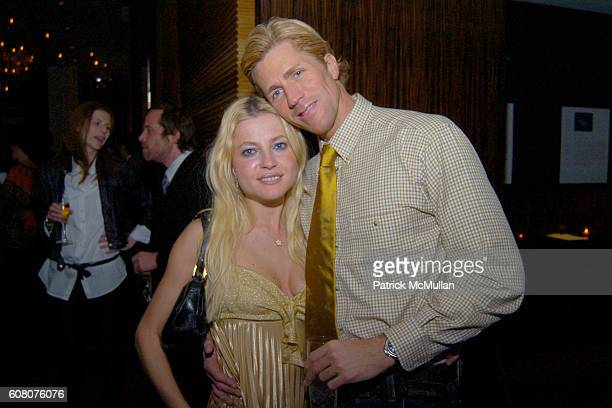 Anna Kulinova and Brian Grover attend 1st Annual Core Cares Holiday Charity Benefit at Core Club East 55th St on December 12 2006