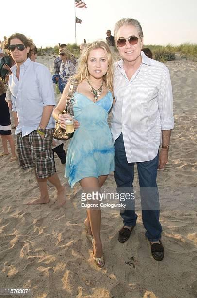 Anna Kulinova and Bruce Bernstein attend the Hamptons Magazine Annual Clambake on July 20 2008 in South Hampton New York