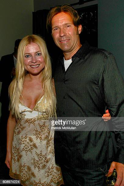 Anna Kulinova and Dino Carlaftes attend BEN SILVERMAN ERIC HADLEY and CHARLIE WALK host THE NETWORK UPFRONTS dinner at Spotlight Live on May 17 2007