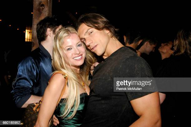 Anna Kulinova and Vincent Maggio attend BOSS ORANGE New Direction Party at 601 West 26th street on July 23 2009 in New York City