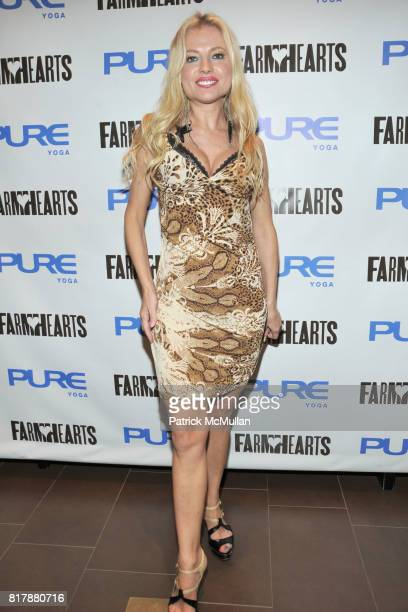 Anna Kulinova attends Launch and Celebration of Farmhearts at Pure Yoga on September 23 2010 in New York City