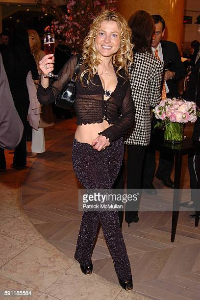 Anna Kulinova attends Saks Fifth Avenue hosts a cocktail party to celebrate the ROGER VIVIER Boutique Launch at Saks Fifth Avenue on April 11 2005 in...