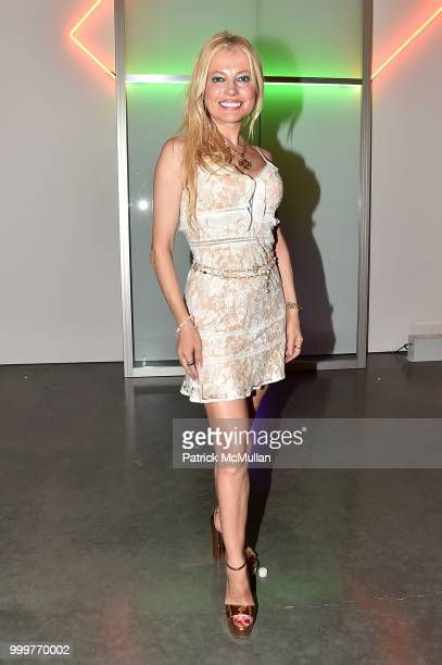 Anna Kulinova attends the Parrish Art Museum Midsummer Party 2018 at Parrish Art Museum on July 14 2018 in Water Mill New York