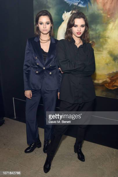 Anna and Sofia Kuprienko from Bloom Twins attend the premiere of Indecision IV presented by HEIST Gallery starring Rose McGowan on December 11 2018...
