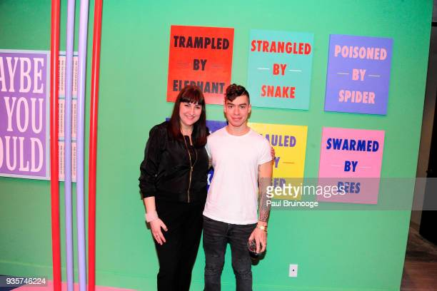 Anna Kustera and Eric Mistretta attend the SPRING/BREAK Collectors Press Preview at 4 Times Square on March 6 2018 in New York City