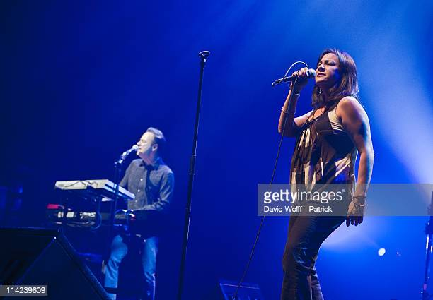 Anna LaCazio performs at L'Olympia on May 16 2011 in Paris France