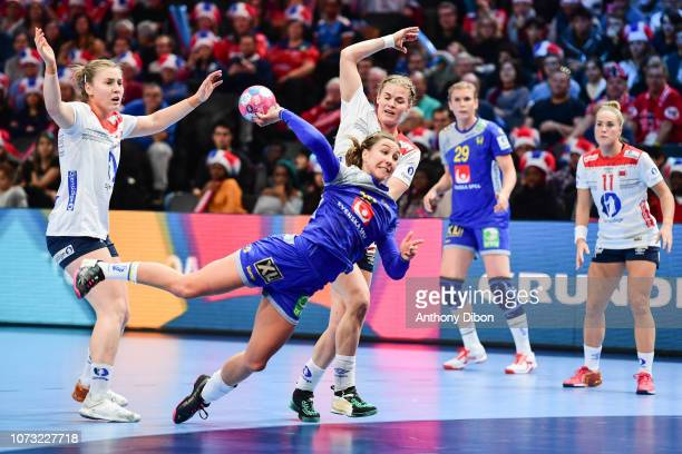 Anna Lagerquist of Sweden during the EHF Euro match between Sweden and Norway on December 14 2018 in Paris France
