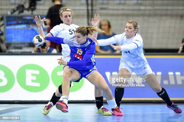 Anna Lagerquist of Sweden in action during IHF Women's Handball World Championship group B match between Sweden and Czech Republic on December 05...