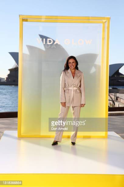 Anna Lahey attends the Vide Glow global launch at Sydney Harbour on May 17, 2021 in Sydney, Australia.