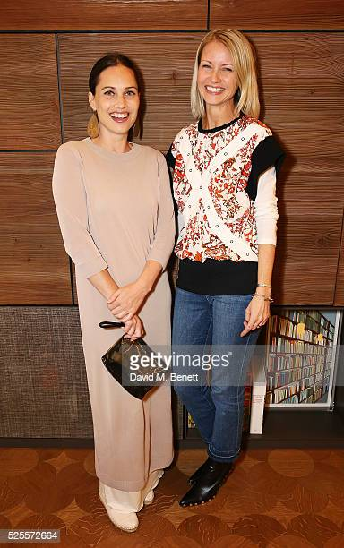 Anna Laub and Holli Rogers attend the BFC Fashion Trust x Farfetch cocktail reception on April 28, 2016 in London, England.