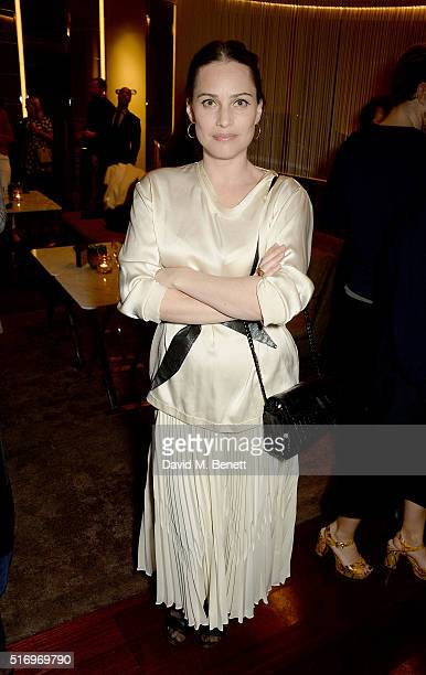 Anna Laub attends the BFC/Vogue Designer Fashion Fund 2016 winners announcement at Bulgari Hotel on March 22 2016 in London England