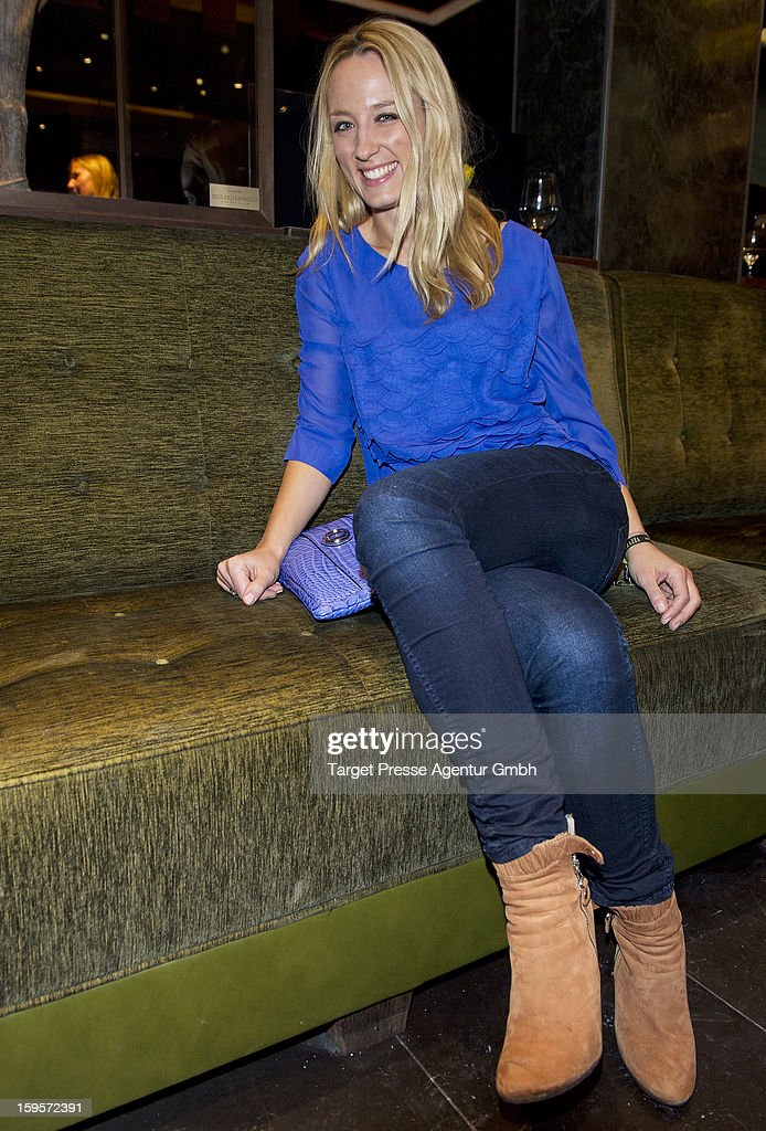 Anna Lauerbach attends the Grazia Pop Up Casino during the Mercedes Benz Fashion Week Autumn/Winter 2013/14 at the Restaurant Uma on January 16, 2013 in Berlin, Germany.