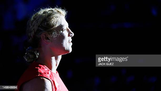 Anna Laurell of Sweden exits the ring following her points decision victory over NaomiLee FischerRasmussen of Australia in the women's Middleweight...