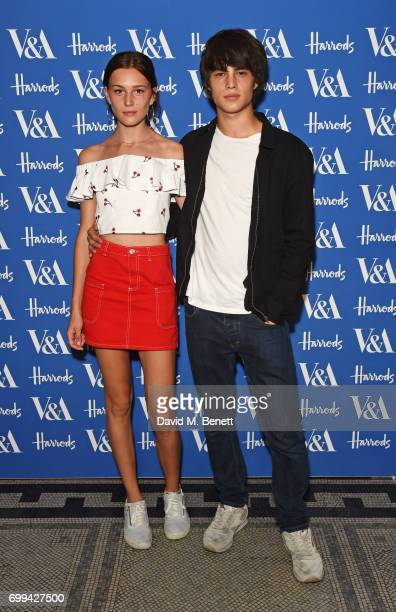 Anna Lea Gardner and Louis Baines attend the 2017 annual VA Summer Party in partnership with Harrods at the Victoria and Albert Museum on June 21...