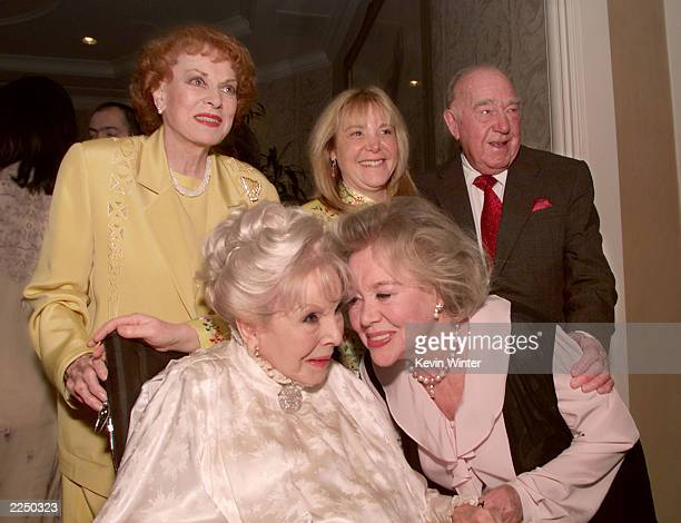 Anna Lee and Glynis Johns and Maureen O'Hara Donna and Ronald Neame at a reception hosted by BAFTA/LA honoring producer/director Ronald Neame CBE on...