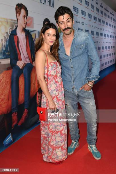 Anna Lena Class and Adrian Can during the ''Das Pubertier'' premiere at Mathaeser Filmpalast on July 4 2017 in Munich Germany
