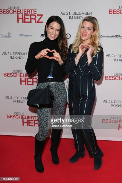 Anna Lena Class and Nele Kiper during the 'Dieses bescheuerte Herz' premiere at Mathaeser Filmpalast on December 11, 2017 in Munich, Germany.