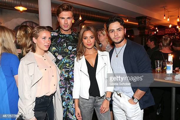 Anna Lena Klenke Andre Borchers Gizem Emre and Aram Arami during the world premiere of 'Fack ju Goehte 2' afterparty at Burger Lobster Bank on...