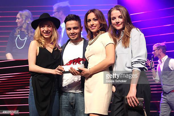 Anna Lena Klenke, Aram Arami, Gizem Emre and Jella Haase attend the New Faces Award - Film - 2014 at e-Werk on May 8, 2014 in Berlin, Germany.