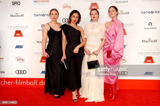 Anna Lena Klenke Gizem Emre Jella Haase and Lea van Acken attend the German Film Ball 2018 at Hotel Bayerischer Hof on January 20 2018 in Munich...