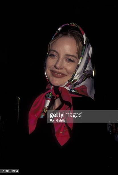 Anna Levine attends the performance of 'Cabaret' on January 4 1996 at Carlyle Cafe in New York City