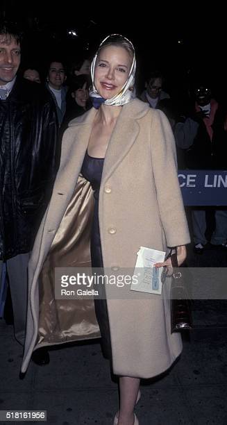 Anna Levine attends the premiere of Drunks on March 10 1997 at the Angelika Theater in New York City