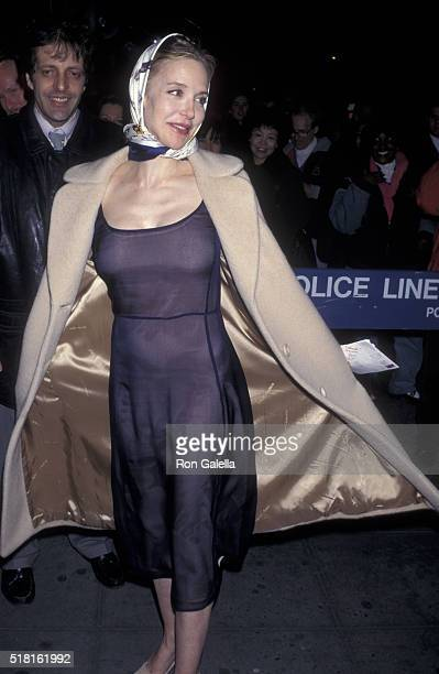 Anna Levine attends the premiere of 'Drunks' on March 10 1997 at the Angelika Theater in New York City