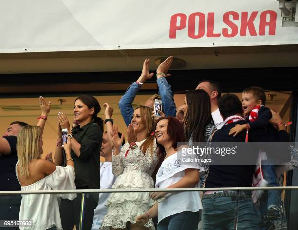 Anna Lewandowska of Robert Lewandowski of Poland during the 2018 FIFA World Cup Russia eliminations match between Poland and Romania on June 10 2017...