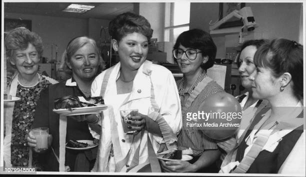 Anna Lisse Piper with King George V Hospital NursesLR Nea Morrison Pam Valentine Kim Smith Ruth O'Brien Jill Thomas at AnnaLisse 15th birthday party...