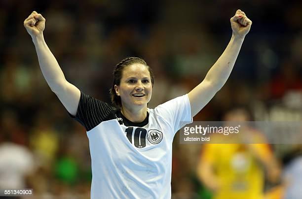 Anna Loerper Einzelbild Aktion Jubel Freude Emotion BR Deutschland DHB Laenderspiel Länderspiel EM Qualifikation Europmeisterschaft...