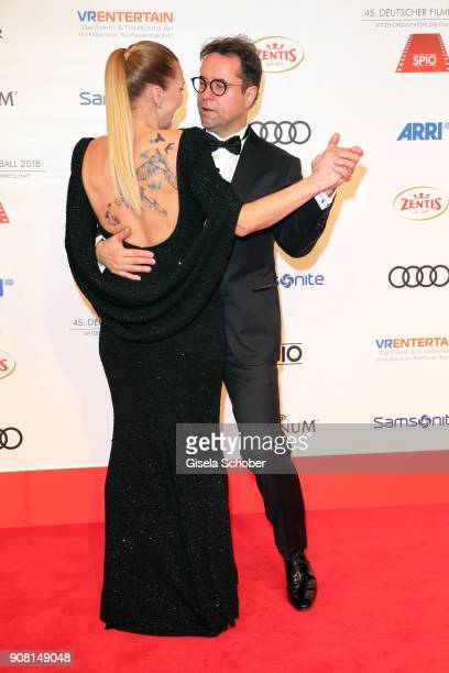Anna Loos and her husband Jan Josef Liefers during the German Film Ball 2018 at Hotel Bayerischer Hof on January 20 2018 in Munich Germany