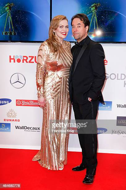 Anna Loos and Jan Josef Liefers attend the Goldene Kamera 2015 on February 27 2015 in Hamburg Germany