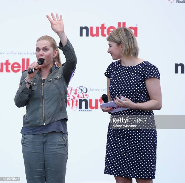 Anna Loos and Sabine Heinrich attend the 50 Year Anniversary Nutella Celebration at Westfalenpark on May 18 2014 in Dortmund Germany