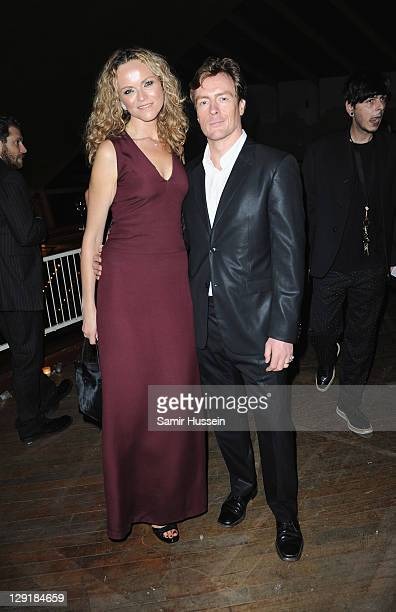 Anna Louise Plowman and Toby Stephens poses at the Calvin Klein Collection Hosts Dinner to Celebrate The New Home of London's Design Museum at The...