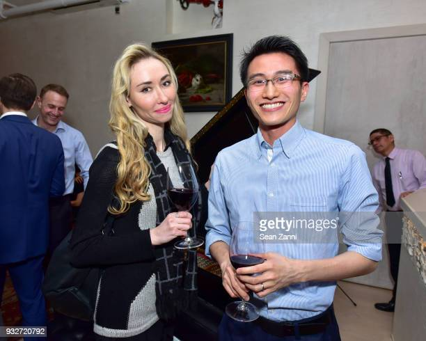 Anna Lucas and Bernard Yiu attend 'The Initiation' Book Launch at Bouley TK on March 15 2018 in New York City