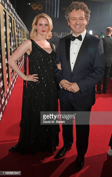 Anna Lundberg and Michael Sheen attend the the GQ Men Of The Year Awards 2019 in association with HUGO BOSS at the Tate Modern on September 3 2019 in...