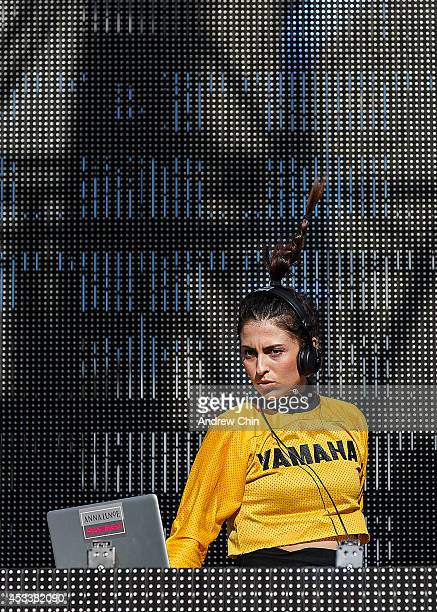 Anna Lunoe performs on stage during Day 1 of Squamish Valley Music Festival on August 8 2014 in Squamish Canada