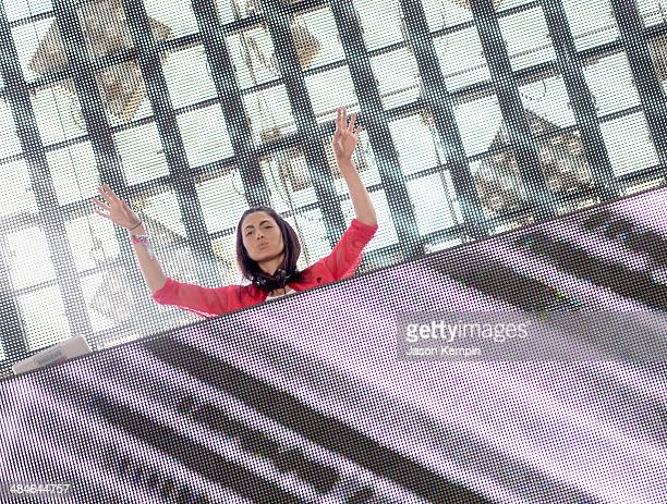 Anna Lunoe performs onstage during day 3 of the 2014 Coachella Valley Music Arts Festival at the Empire Polo Club on April 13 2014 in Indio California