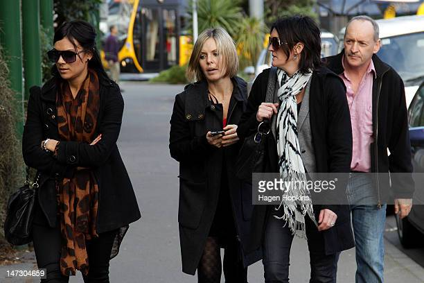 Anna MacDonald wife of murderaccused Ewen MacDonald arrives at the High Court on June 28 2012 in Wellington New Zealand Ewen MacDonald is accused of...
