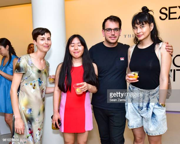 Anna Mackenzie Jin Zoe Zach Smith and Guest attend Thinx Hosts Come As You Are In Celebration Of Period Sex Blanket at Thinx Come As You Are PopUp...