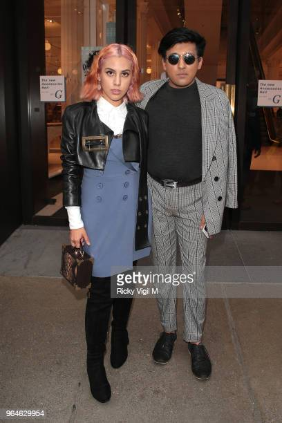 Anna Maddock and Raghav Tibrewal seen attending Kurt Geiger boutique opening party at Selfridges on May 31 2018 in London England