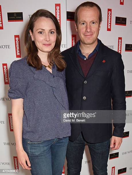 """Anna Madeley and Geoffrey Streatfeild attend a special screening of The Donmar Warehouse production of """"The Vote"""" at the Ham Yard Hotel, generously..."""